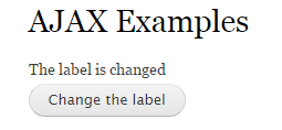 label after ajax