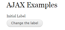 label before ajax