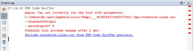 php_code_sniffer_inspection_error