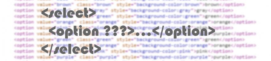 Добавляем атрибуты к html элементу option